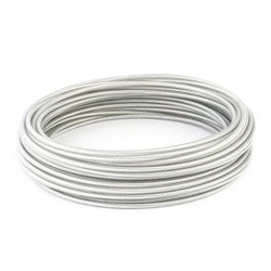 DRAHTSEIL PVC TRANSPARENT 3/4mm