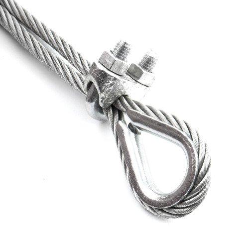 ZL22 Drahtseilklemme Stahl für Seile ØSeil 22mm Zink DIN741 DROMET